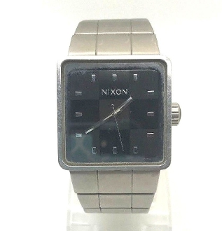 Nixon Full Throttle The Quatro Square Black Dial SS Watch