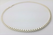 "Tiffany & Co Venetian Link Necklace 18"" Sterling Silver 925"