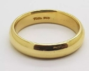 Tiffany & Co Classic Wedding Band 18K Yellow Gold Ring 6.5
