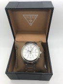 GUESS Stainless Steel Chronograph Watch U0075G3