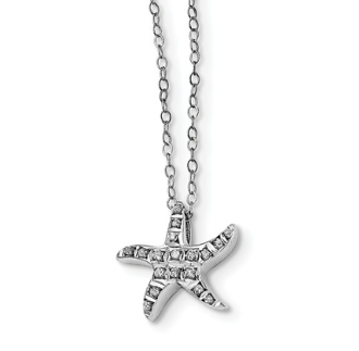 Sterling Silver Diamond Mystique Starfish Necklace