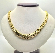 Vintage Tiffany & Co 18K Yellow Gold Graduated Woven Braid Chain