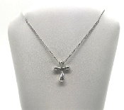 Tiffany & Co Elsa Peretti Sterling Silver Cross Pendant Necklace
