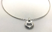 Tiffany & Co 1999 Stencil Heart Circle Pendant Necklace 925