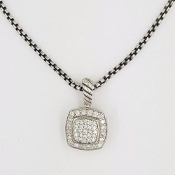 David Yurman Pave Diamond Albion Pendant Necklace
