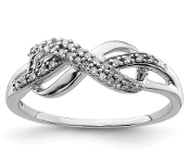 Sterling Silver Diamond Infinity Symbol Ring