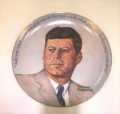 1983 Norman Rockwell John F Kennedy Decorative Collectors Plate