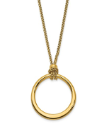 "14K Yellow Gold Polish Circle ""O"" Ring Pendant Necklace"