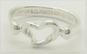 Tiffany & Co Elsa Peretti Sterling Silver Open Heart Ring Size 5
