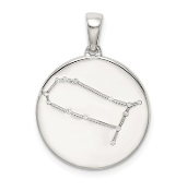 Sterling Silver & CZ Gemini Zodiac Necklace