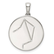Sterling Silver & CZ Libra Zodiac Necklace