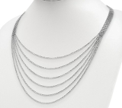 Sterling Silver Multi-Strand Layered Necklace