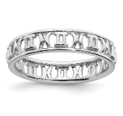 Sterling Silver Stackable Zodiac Gemini Ring