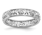 Sterling Silver Stackable Zodiac Cancer Ring