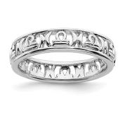 Sterling Silver Stackable Zodiac Libra Ring