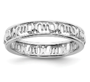 Sterling Silver Stackable Zodiac Scorpio Ring