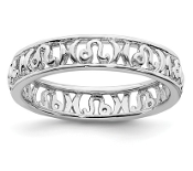 Sterling Silver Stackable Zodiac Leo Ring