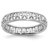 Sterling Silver Stackable Zodiac Pisces Ring