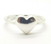 Tiffany & Co Sterling Silver Puffed Heart Ring Size 5