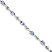 Sterling Silver Diamond & Tanzanite December Bracelet