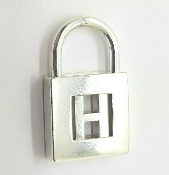 Tiffany & Co Sterling Silver Letter H Initial Lock Charm Pendant
