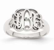 Sterling Silver Personalized Monogram Signet Ring