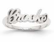 White Gold Personalized Name Ring