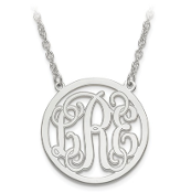 White Gold Personalized Monogram Pendant Necklace