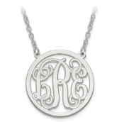Sterling Silver Personalized Monogram Pendant Necklace