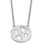 Sterling Silver Personalized Cancer Zodiac Name Necklace