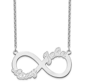 14K White Gold Personalized Infinity 2 Name Necklace