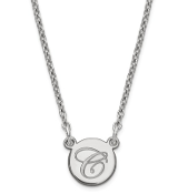Sterling Silver Personalized Small Circle Initial Necklace