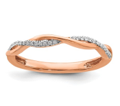 14K Rose Gold Stackable Diamond Crossover Ring