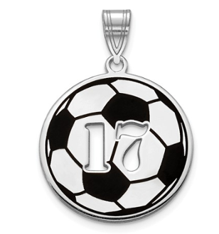 Sterling Silver Personalized Soccer Ball Pendant