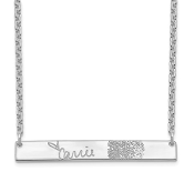 Sterling Silver Personalized Signature Fingerprint Necklace